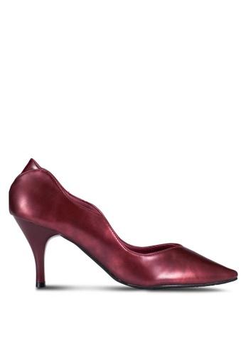 DMK red Swirly Pump Heels DM860SH0RG1MMY_1
