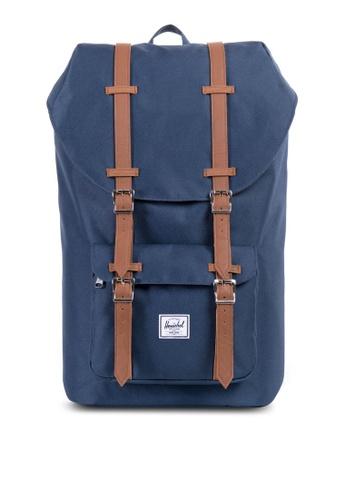 Herschel blue Little America Mid Volume Backpack HE305AC56YGHSG_1