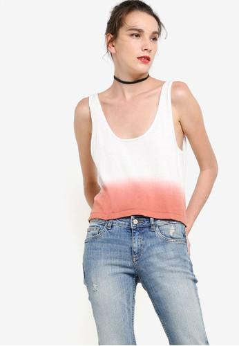 MANGO pink Tie-Dye Effect Top MA533AA75OIAID_1
