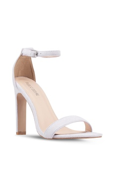 5fb9793e7409a6 55% OFF Public Desire Crown Square Toe Barely There Heels S  59.90 NOW S   26.90 Sizes 8