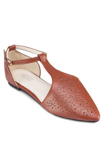 Kathleen 雕花繞踝平底鞋, 女zalora 台灣門市鞋, 鞋