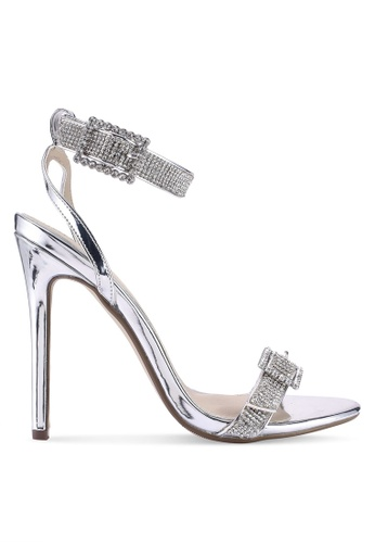bbc12378af9 Shop MISSGUIDED Embellished Buckle Barely There Heels Online on ZALORA  Philippines