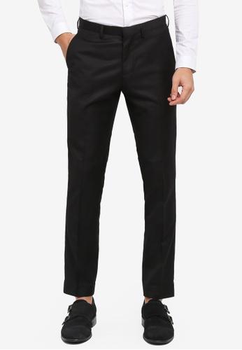 Electro Denim Lab black Slim Formal Pants 53EAEAADDD78C8GS_1