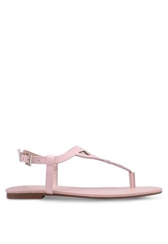 Call It Spring pink Vernata Flat Sandals 0C269SHDBDDE33GS_1