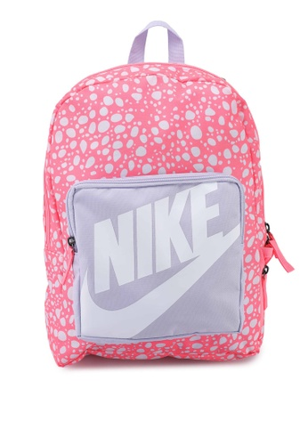 Nike purple Classic Printed Backpack 3293FKCD9D502EGS_1