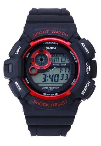 SANDA red SANDA 302 Waterproof Outdoor Multifunctional Sports Men's Digital Watch (Red) SA708AC0RXBHMY_1