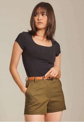 Dressing Paula green Basic Cotton Shorts. FE699AA785F0CDGS_1