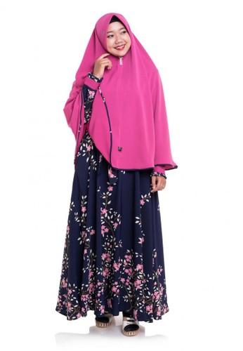First Hijab navy Dress Kanaya Set In NavyPink A14B6AA910FAE5GS_1