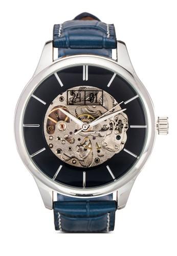 Premium 鏤空機芯仿皮手錶esprit outlet 高雄, 錶類, 紳士錶