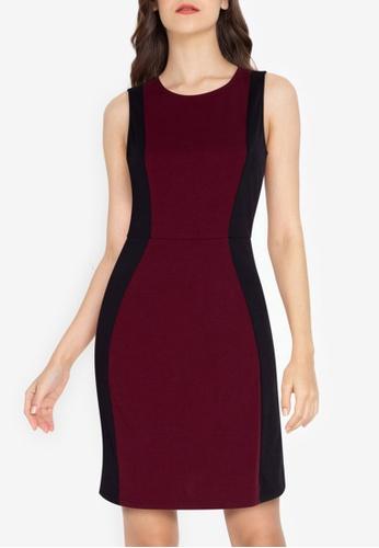 ZALORA WORK multi Colorblock Sleeveless Dress 1E0DFAA081256DGS_1