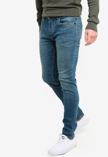 Topman 藍色 緊身牛仔褲 8355CAA71AE7B9GS_1