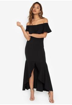 da5d61a3a1f0 Deity black Salsa Off Shoulder Long Dress B4767AA155DB33GS 1