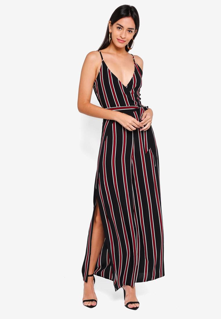 AX Striped Paris Tie Black Black Waist Jumpsuit pfFWFqnxr in ... 5183b5236