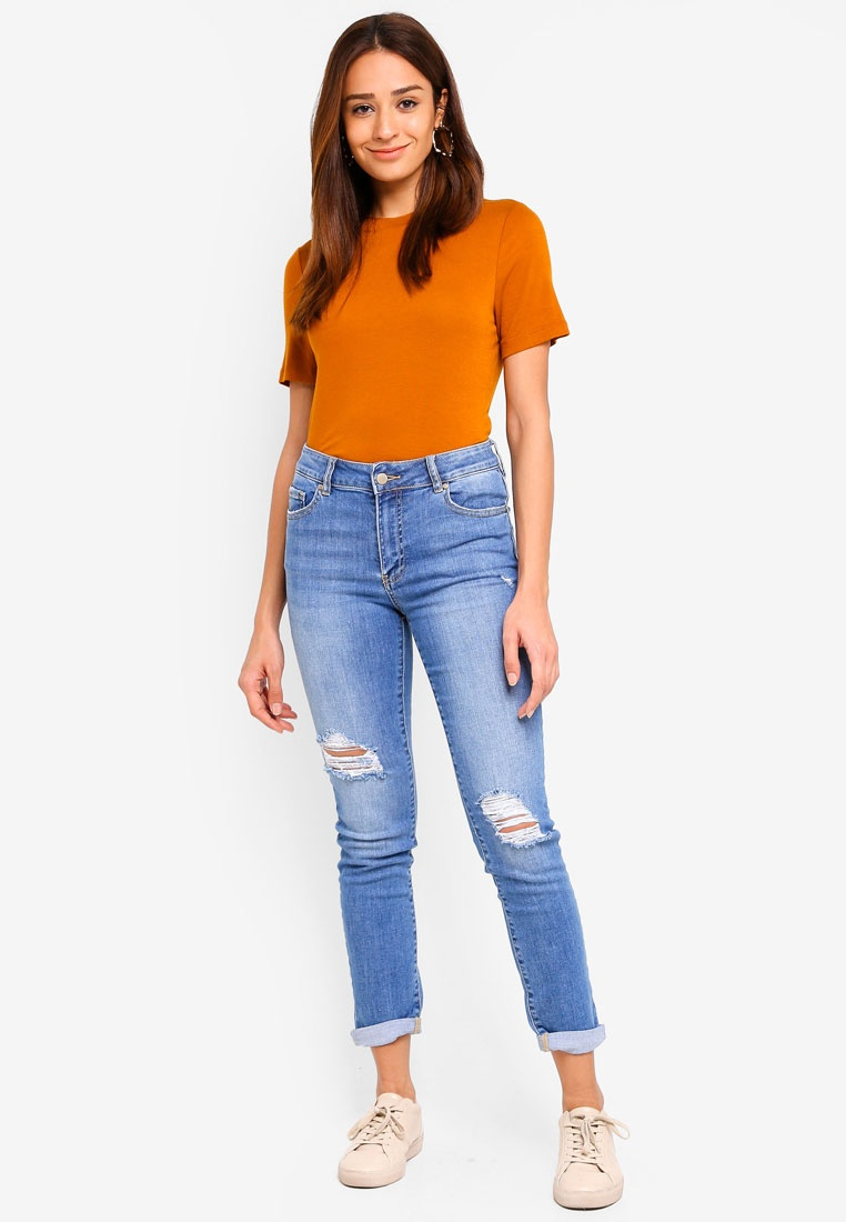 New Blue Emmy Forever Mid Girlfriend Brixton Jeans Rise 7HgwRgxd