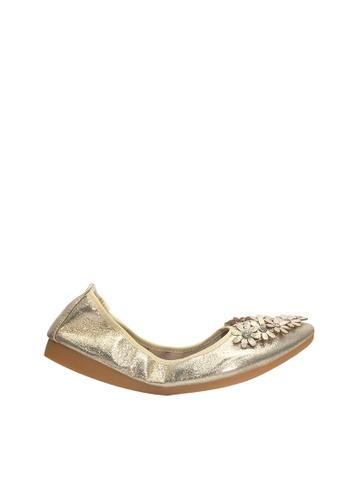 Twenty Eight Shoes 金色 舒適人造鑽石花閃光豆豆鞋 VL6282 EE96CSH22397B0GS_1