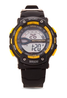 Multi-Function Sport Watch Metallic- Yellow-XJ-858B