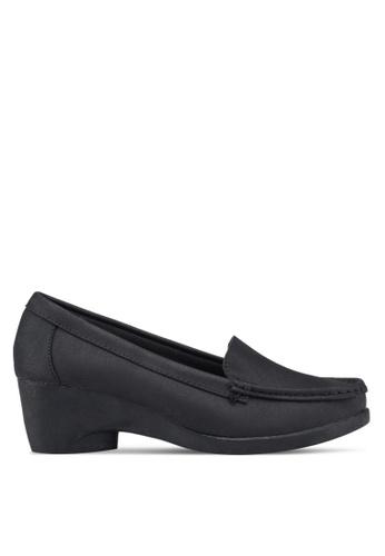 Noveni black Loafer Style Wedges D81DCSH8A3AC71GS_1
