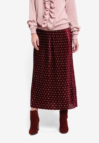 Y.A.S pink Galay Pleated Skirt YA631AA0SA85MY_1