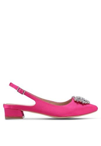 Nose pink Crystal-Embellished Slingback Heels 06F22SH60B0665GS_1