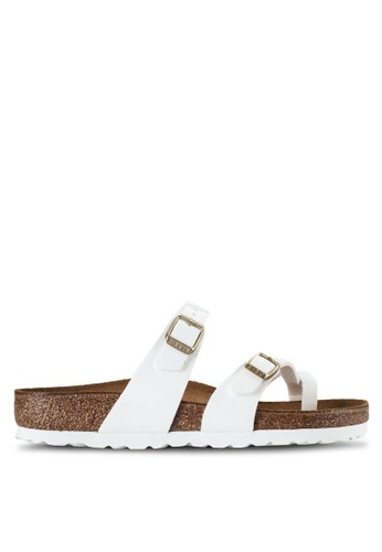 Birkenstock white Mayari Patent Sandals BI090SH78JQBMY_1