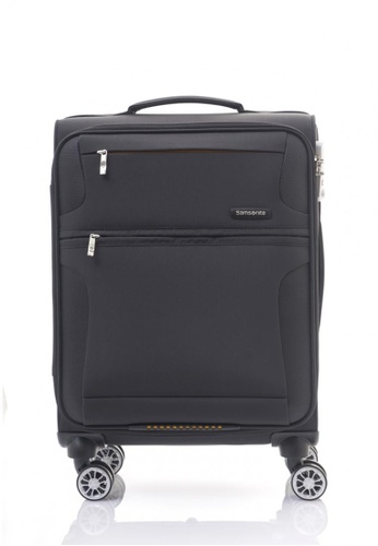 Samsonite black Samsonite Crosslite Spinner 55/20 SA186AC46FFHSG_1