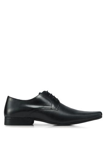 Topman black Black Leather Bloom Hatch Shoes D9BBBSH6DAAF1BGS_1