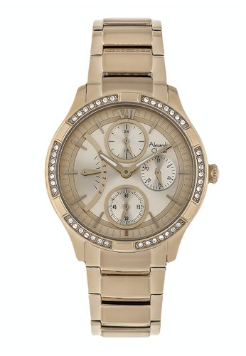 Alexandre Christie gold Alexandre Christie Jam Tangan Wanita - Light Gold - Stainless Steel - 2725 BFBCGCN 2785AACF28A3F0GS_1