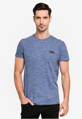 Superdry blue Organic Cotton Vintage Embroidery T-Shirt - Vintage Logo Emblem E617BAAB7DE010GS_1