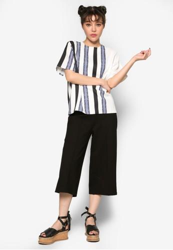 半色條紋連身裙, esprit台灣服飾, 上衣