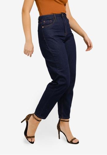 MISSGUIDED 藍色 Indigo Mom Jeans FFE91AA1B9537CGS_1