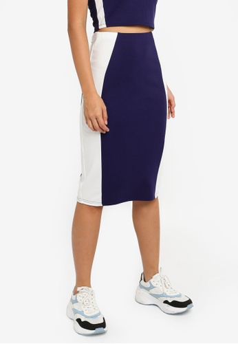 Something Borrowed 藍色 側滾邊緊身裙 2ABE3AA5A033C5GS_1