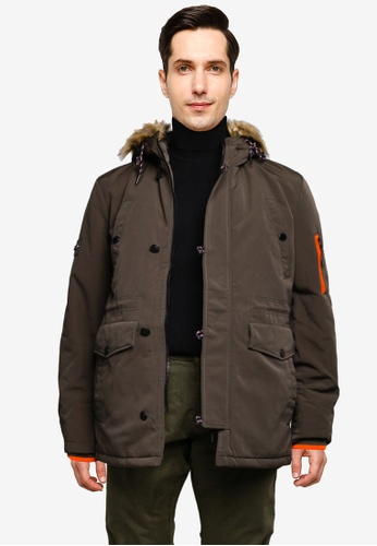 Indicode Jeans 綠色 Bowser Hooded Parka Jacket 52CBBAA34D37C1GS_1