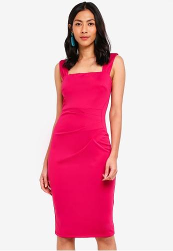 Dorothy Perkins pink Scarlett B Magenta Lara Bodycon Dress 7E4B3AA4281B04GS_1