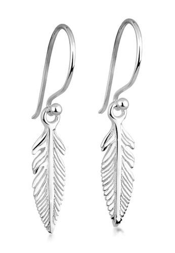 ELLI GERMANY silver Elli Germany Earrings Feather Trend Sterling Silver CC547AC7382DE4GS_1