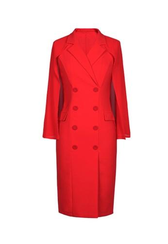 Twenty Eight Shoes red VANSA Suit Style Midi DressVCW-D20073 C2A0CAA5AC94BBGS_1