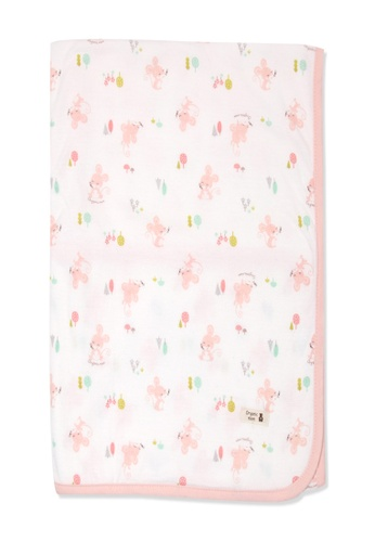 Organic mom pink Organic Cotton Carol Mouse Swadding Blanket 06BCCKC1E13D03GS_1