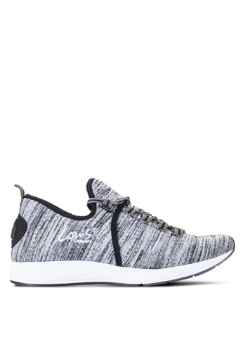 Louis Cuppers grey Knitted Sneakers LO977SH09RDYMY_1