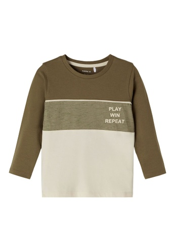 NAME IT grey Nelle Long Sleeves Tee 4CECFKA847D360GS_1
