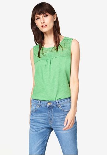 ESPRIT green Slub Jersey Top 89368AA01D2EAAGS_1