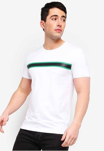 f5454402 Calvin Klein white Calvin Chest Stripe Slim Tee - Calvin Klein Jeans  3C909AABB463FBGS_1