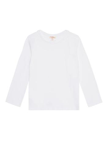 Du Pareil Au Même (DPAM) white Plain Long Sleeve T-shirt 6805DKA9EA1074GS_1