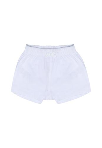 FOX Kids & Baby white Newborn Shorts FBEEFKA3C77E10GS_1