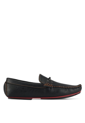 UniqTee black Braided Strap Buckle Driving Shoes 6A718SH5F42A37GS_1