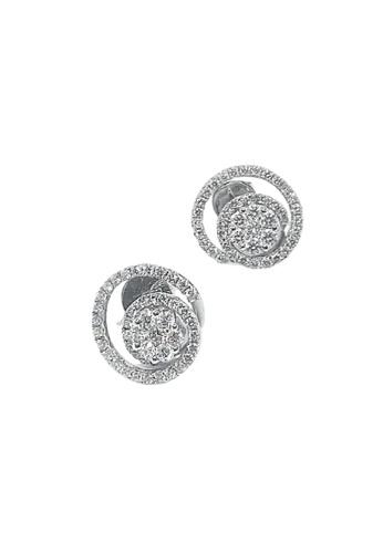 GOLDHEART GOLDHEART Earrings of Spirality in Resplendence, Diamond White Gold 750 (DE24512) 1549BAC5DA5716GS_1