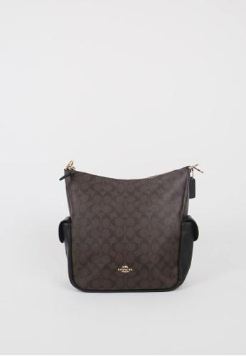 Coach brown Coach Signature Pennie C1523 Shoulder Bag In Brown Black 3CBFAAC20773ACGS_1