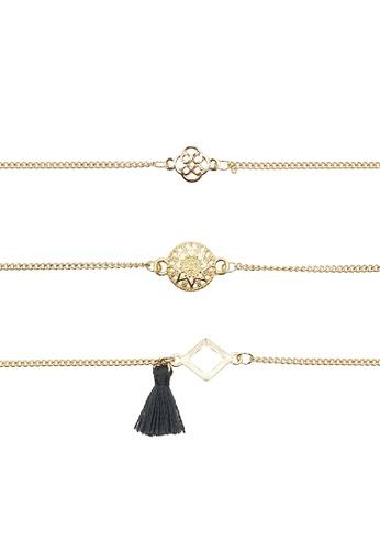 LUCCACAL gold 3 x Giro Everyday Fine Bracelet Set 52640ACB302ED1GS_1