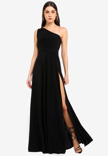 MISSGUIDED black Twist Slinky Maxi Dress 89278AAEDF7C49GS_1