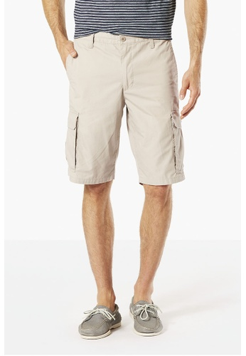 Dockers beige Dockers Standard Washed Cargo Shorts Safari Beige DO282AA55SXOSG_1