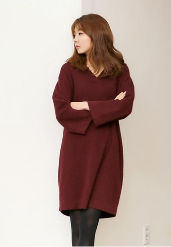 安哥拉V領連衣裙, 服飾, esprit hk outlet短洋裝
