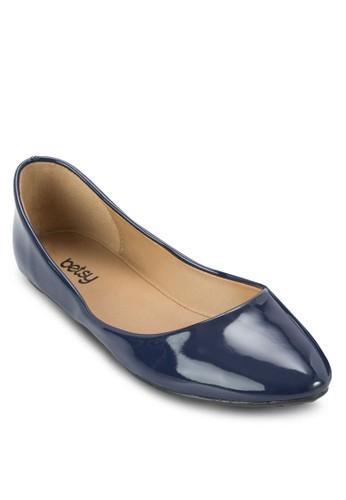 漆皮尖頭平zalora開箱底鞋, 女鞋, 鞋
